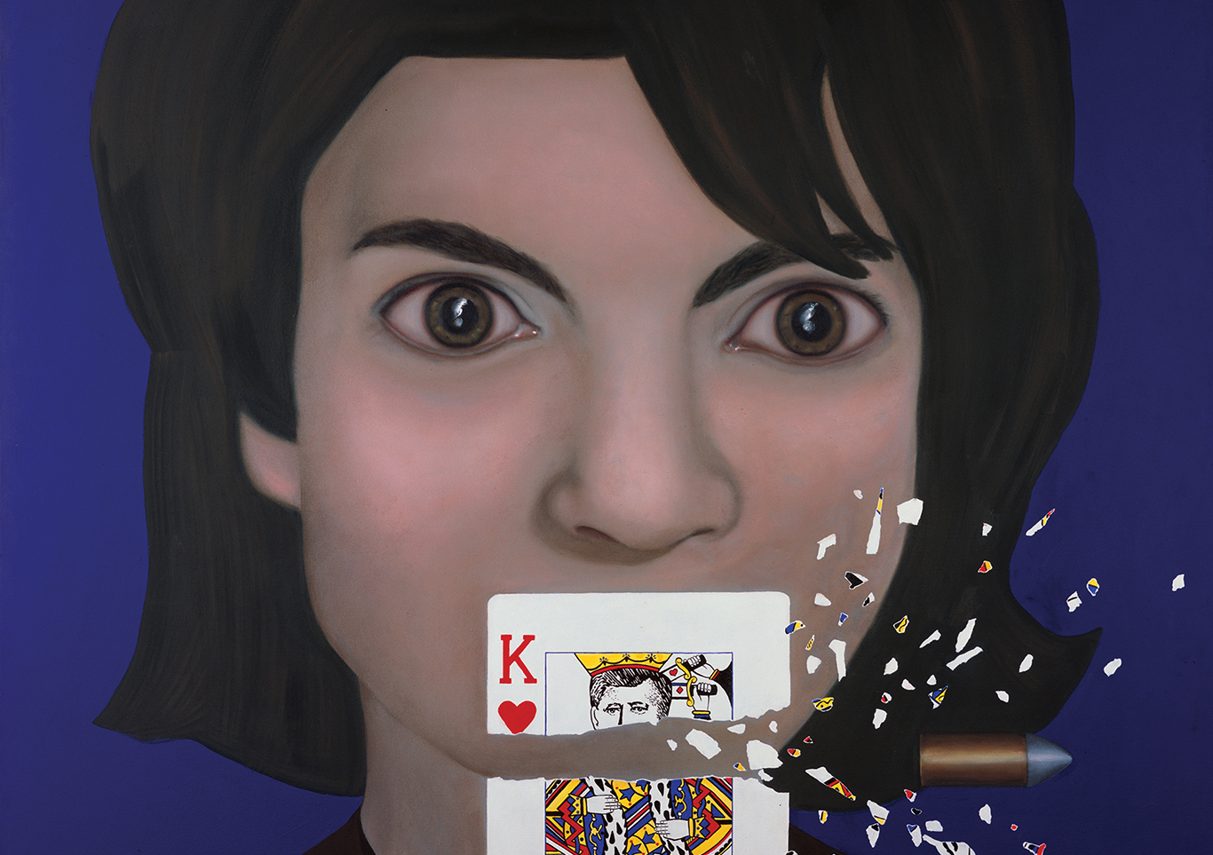 Stop-Action Reaction – Jacqueline Kennedy, King of Hearts, art, Jackie Onasis painting, Tina Mion