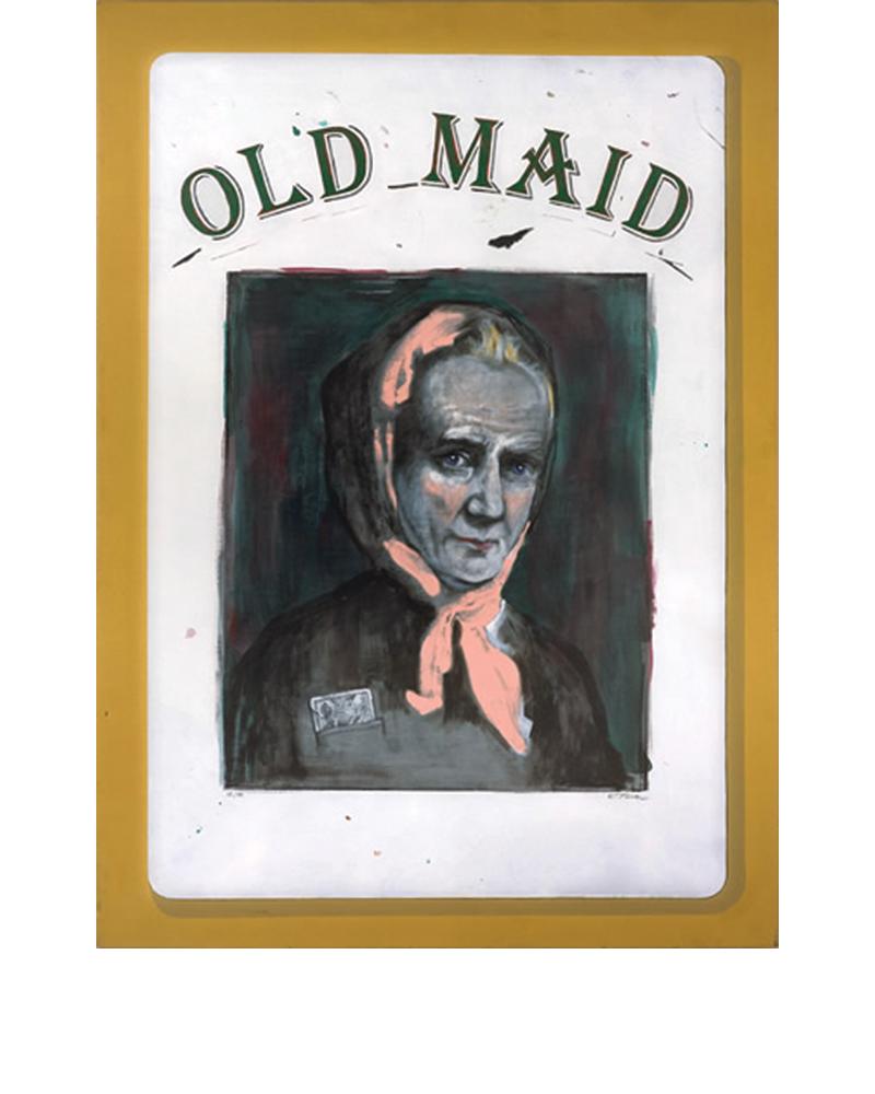 Old Maid - James Buchanan, Tina Mion painting art