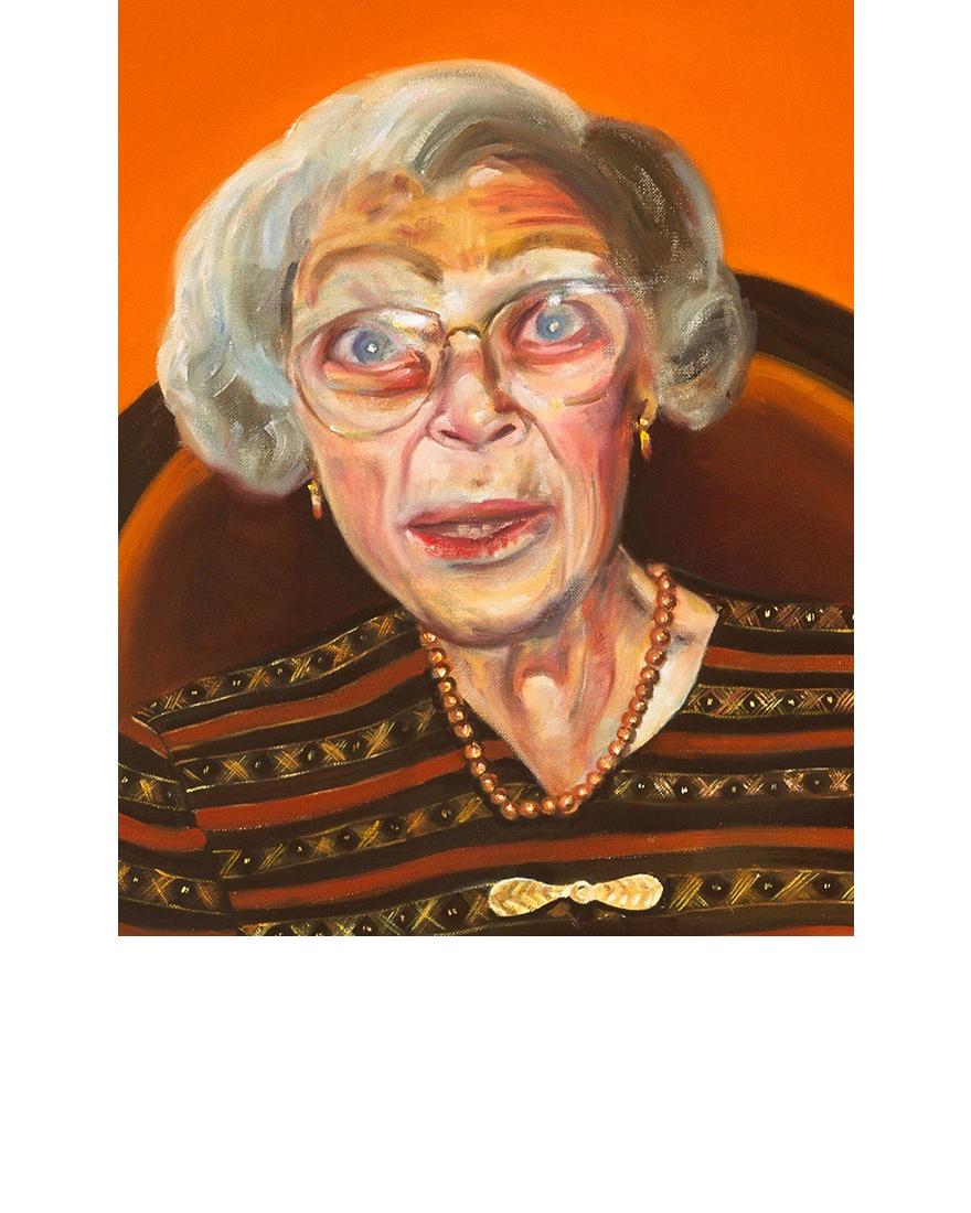 "Aunts (Detail) 2003, oil on linen, 64 x 84"", Tina Mion art"
