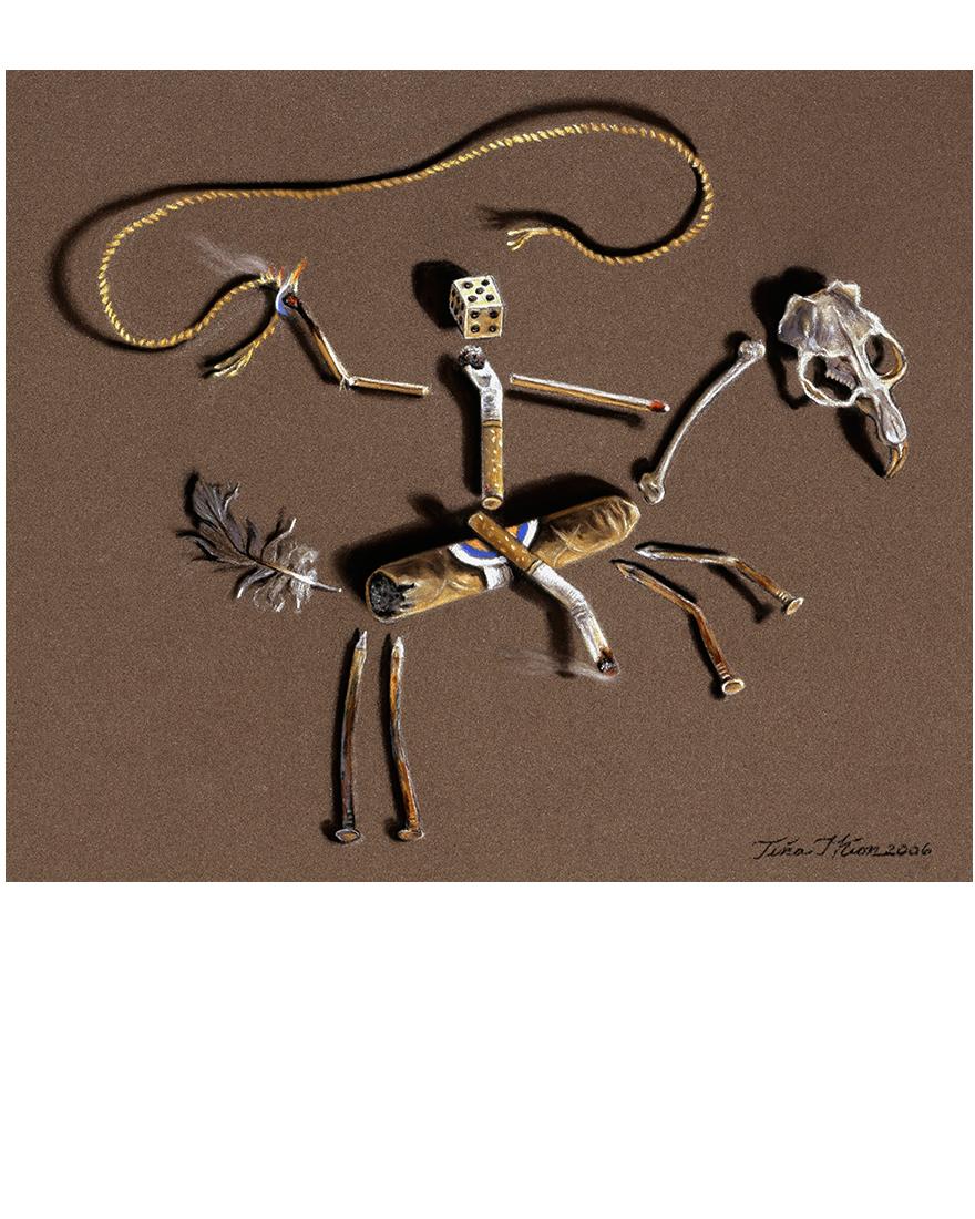 Lash LaRue's Last Ride II, Tina Mion art