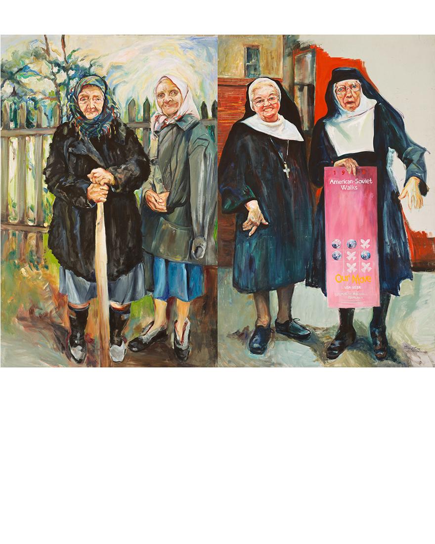 Nuns and Babushkas, Tina Mion art
