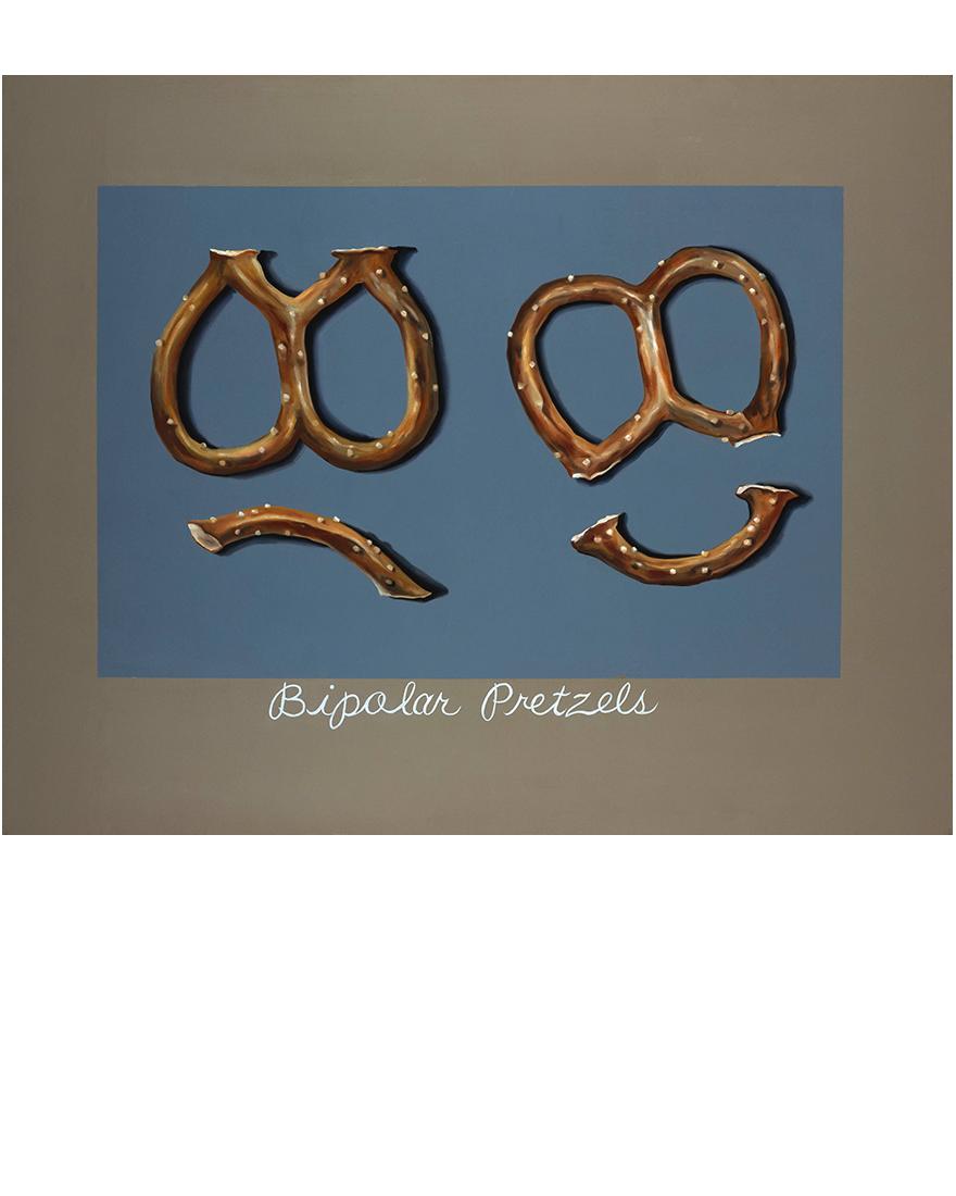 Bipolar pretzels, Tina Mion art painting