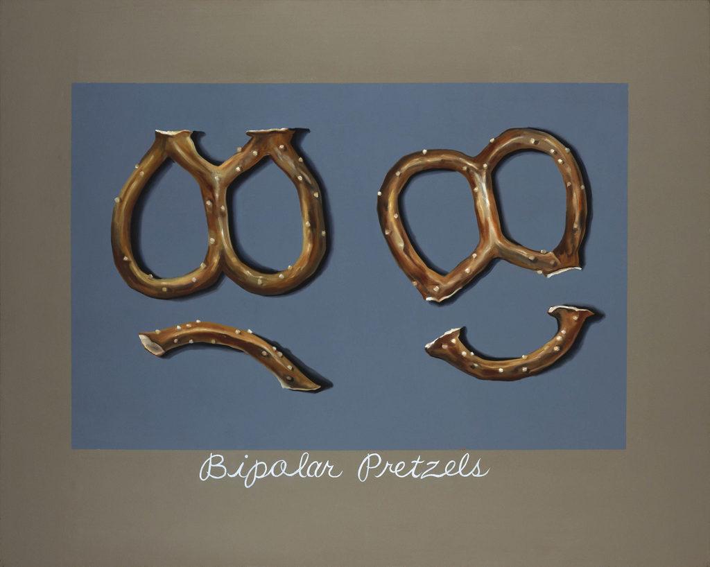 Bipolar Pretzels Tina Mion Art objects painting oils