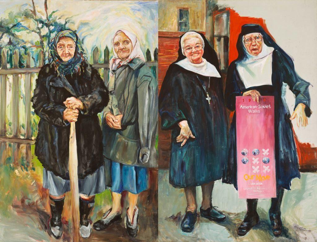 Nuns and Babushkas Painting by Tina Mion Art