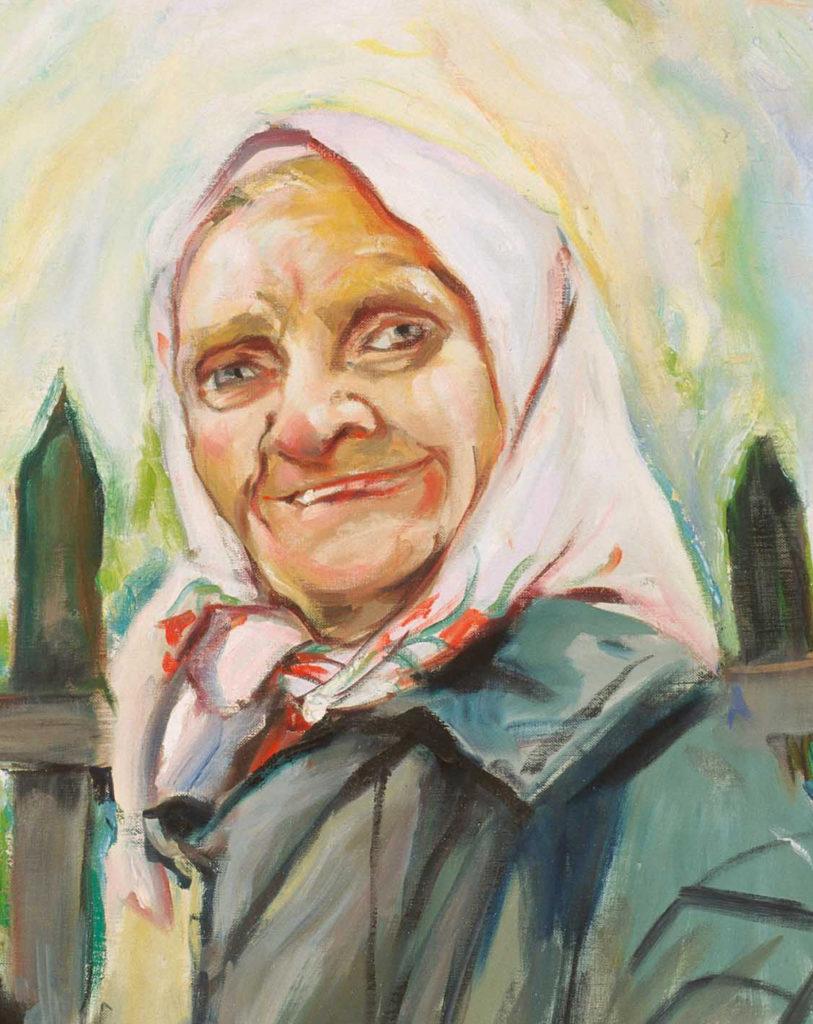 Nuns and Babushkas Detail Tina Mion Painting