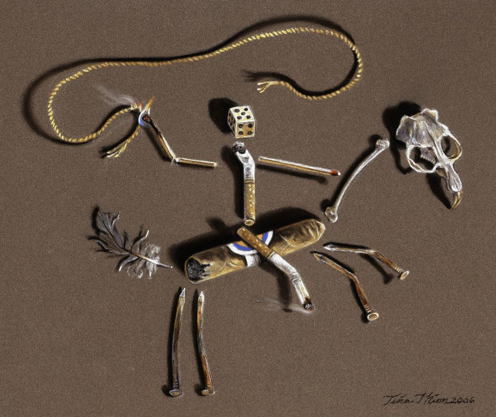 Lash LaRue's Last Ride Tina Mion art objects painting