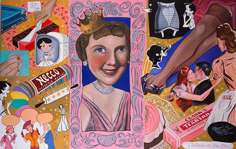 Mamie Eisenhower art tina mion painting
