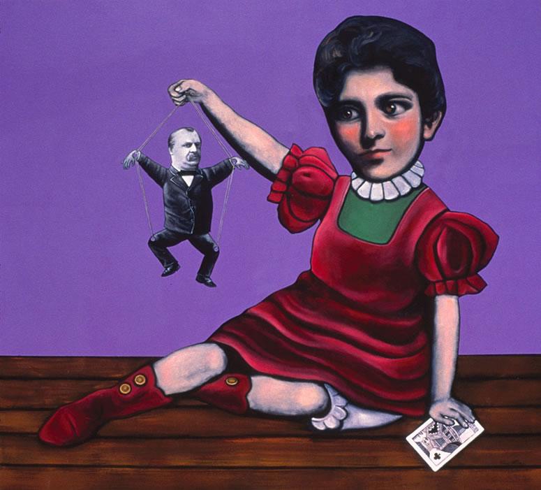 Frances Folsom Cleveland art Tina Mion painting