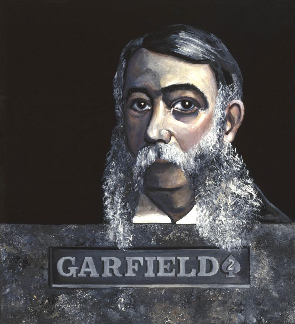 James Abram Garfield painting Tina Mion art