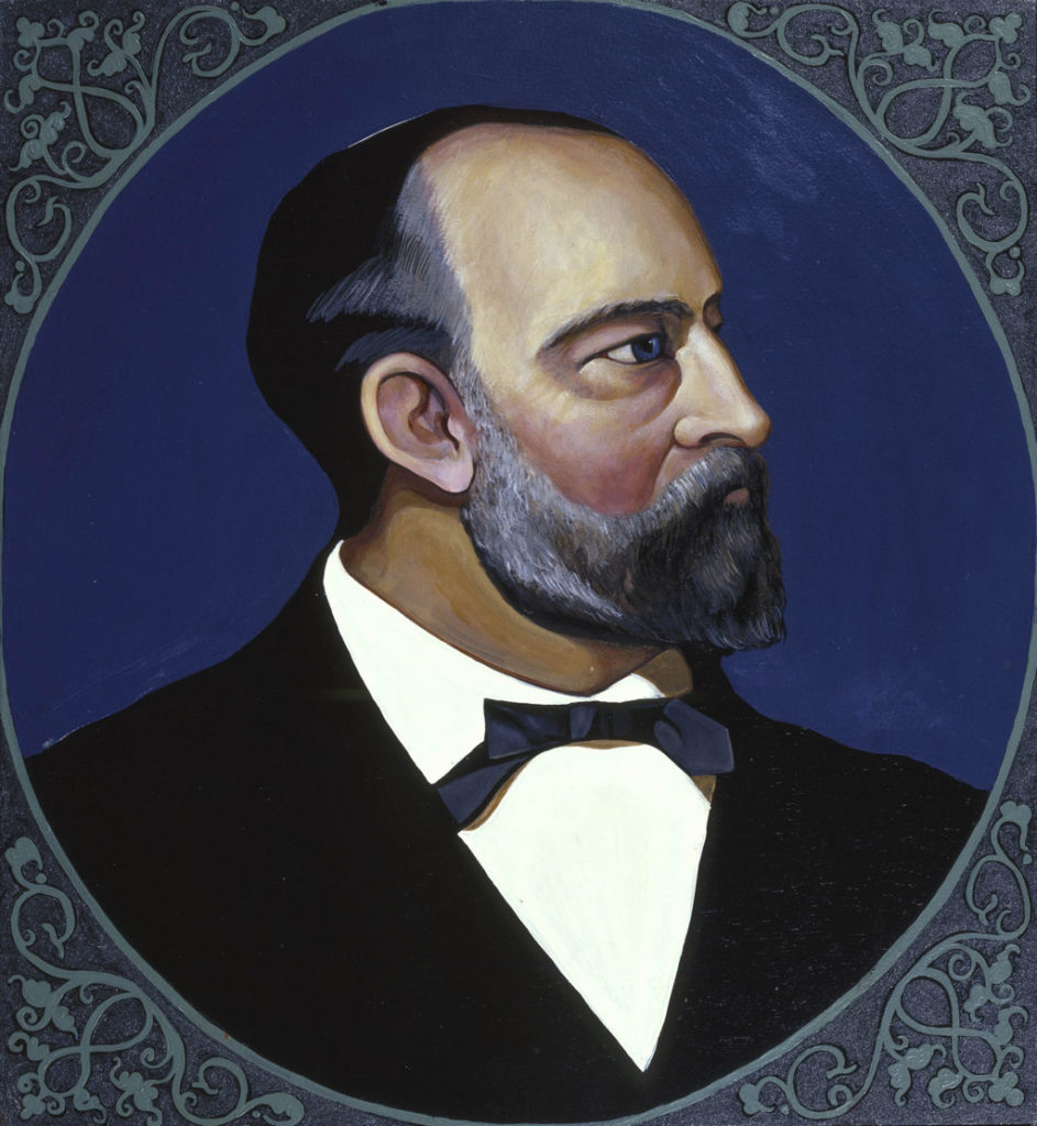 James Abram Garfield painting Tina Mion art