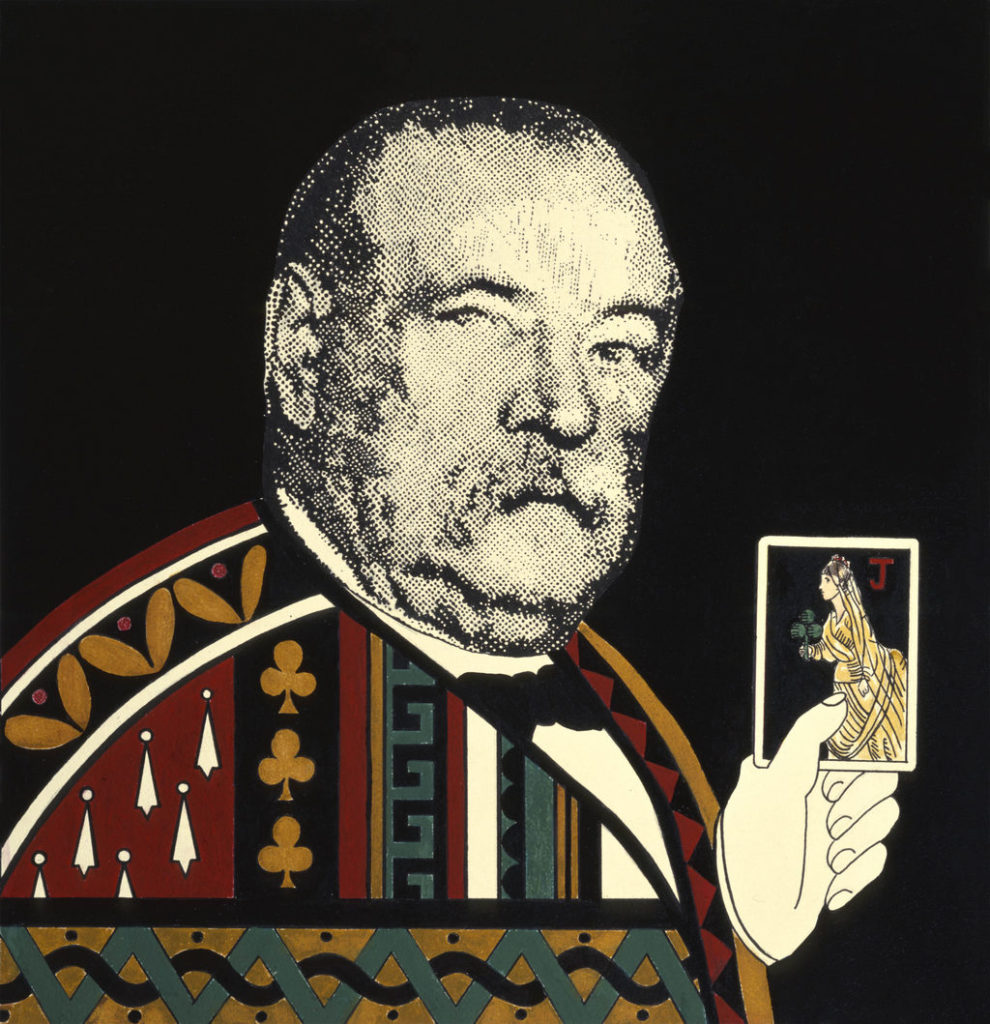 Grover Cleveland painting Tina Mion art