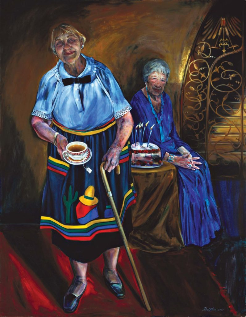 The Last Harvey Girls Tina Mion art painting