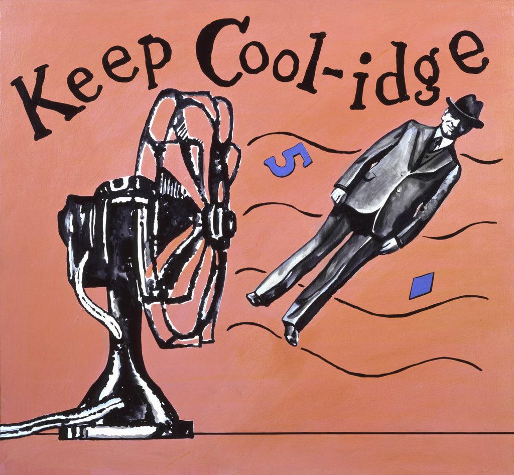 Calvin Coolidge painting Tina Mion art