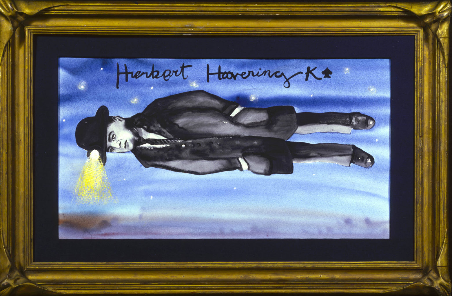 Herbert Clark Hoover art Tina Mion painting