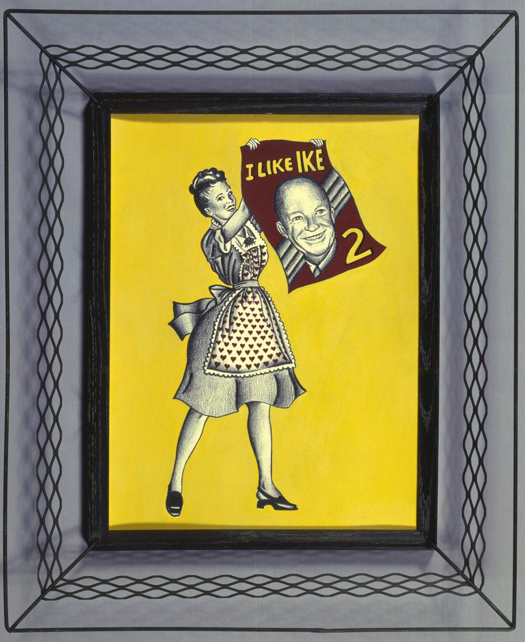 Dwight David Eisenhower art Tina Mion painting