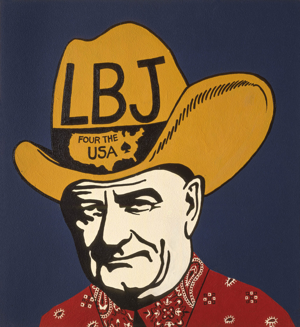 Lyndon Baines Johnson art tina mion painting