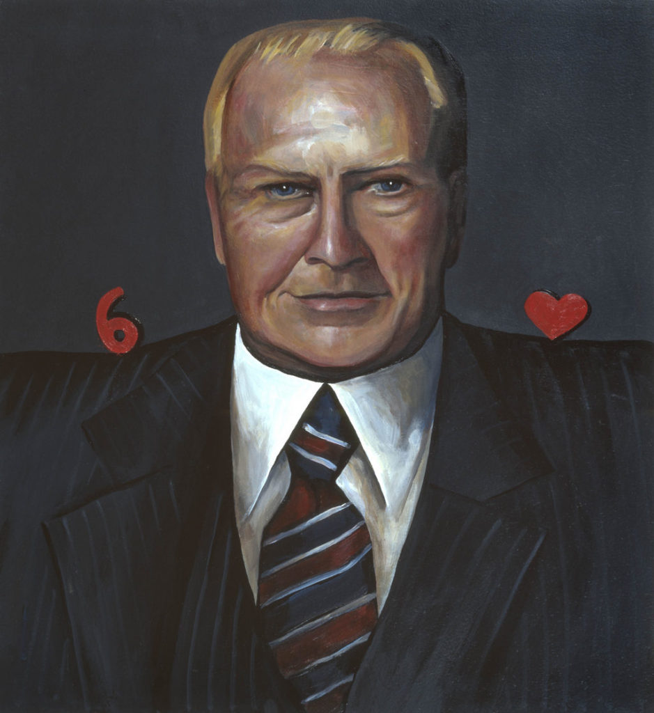 Gerald R. Ford painting Tina Mion art