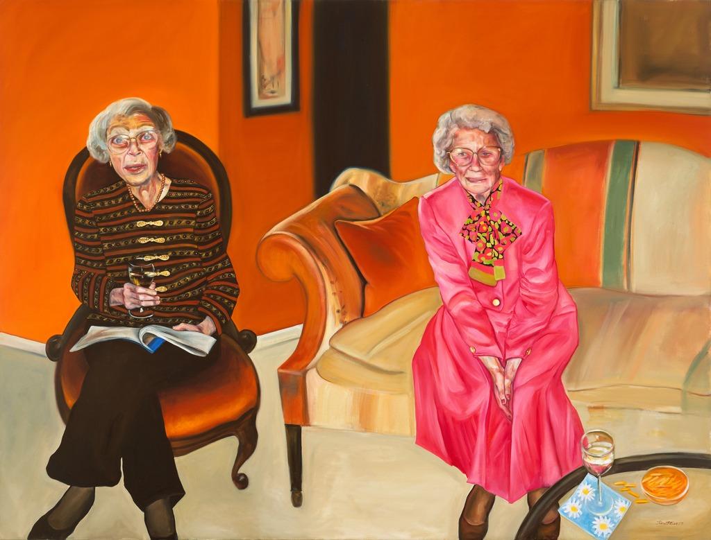 Aunts painting tina mion art