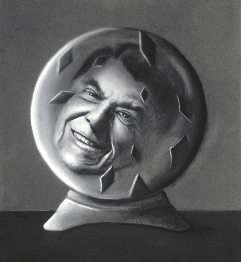 Ronald Reagan art tina mion painting