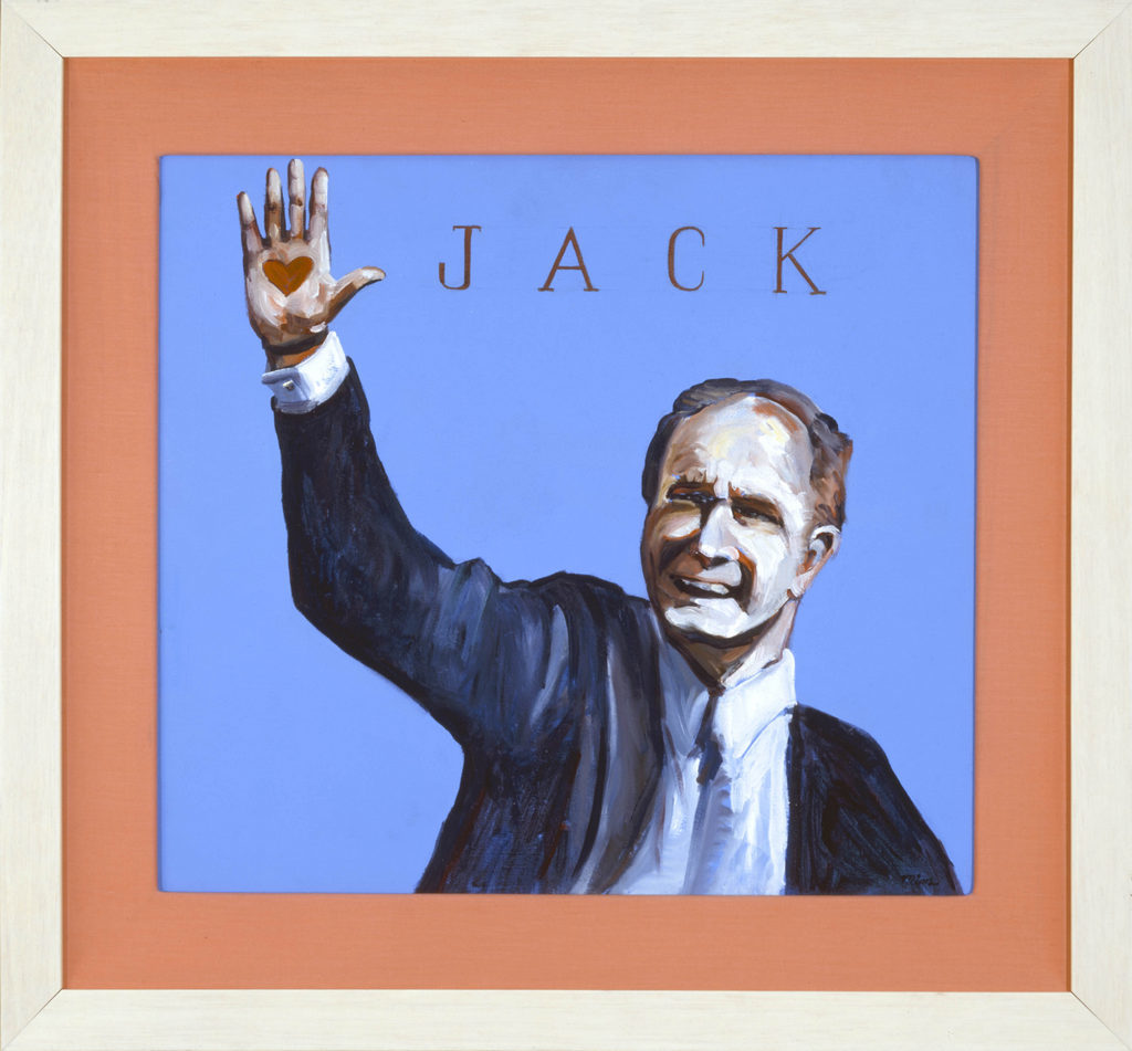 George Bush painting Tina Mion art