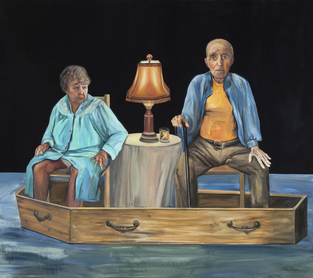 Firewater, Portrait of My Parents Tina Mion art