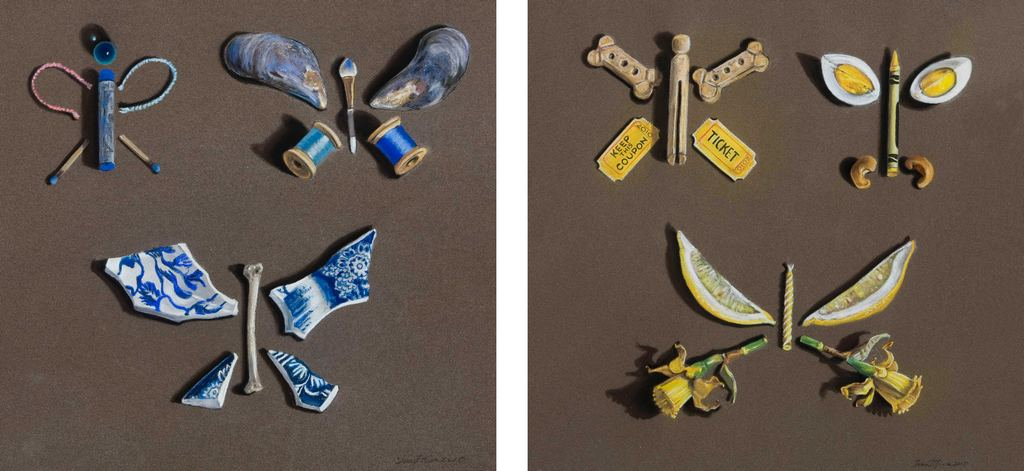 Blue Butterflies, Yellow Butterflies Tina Mion Art Objects Painting