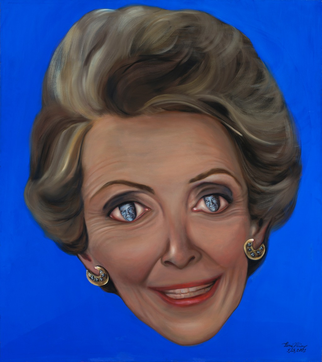 Nancy Reagan, Ten of Diamonds Tina mion art painting