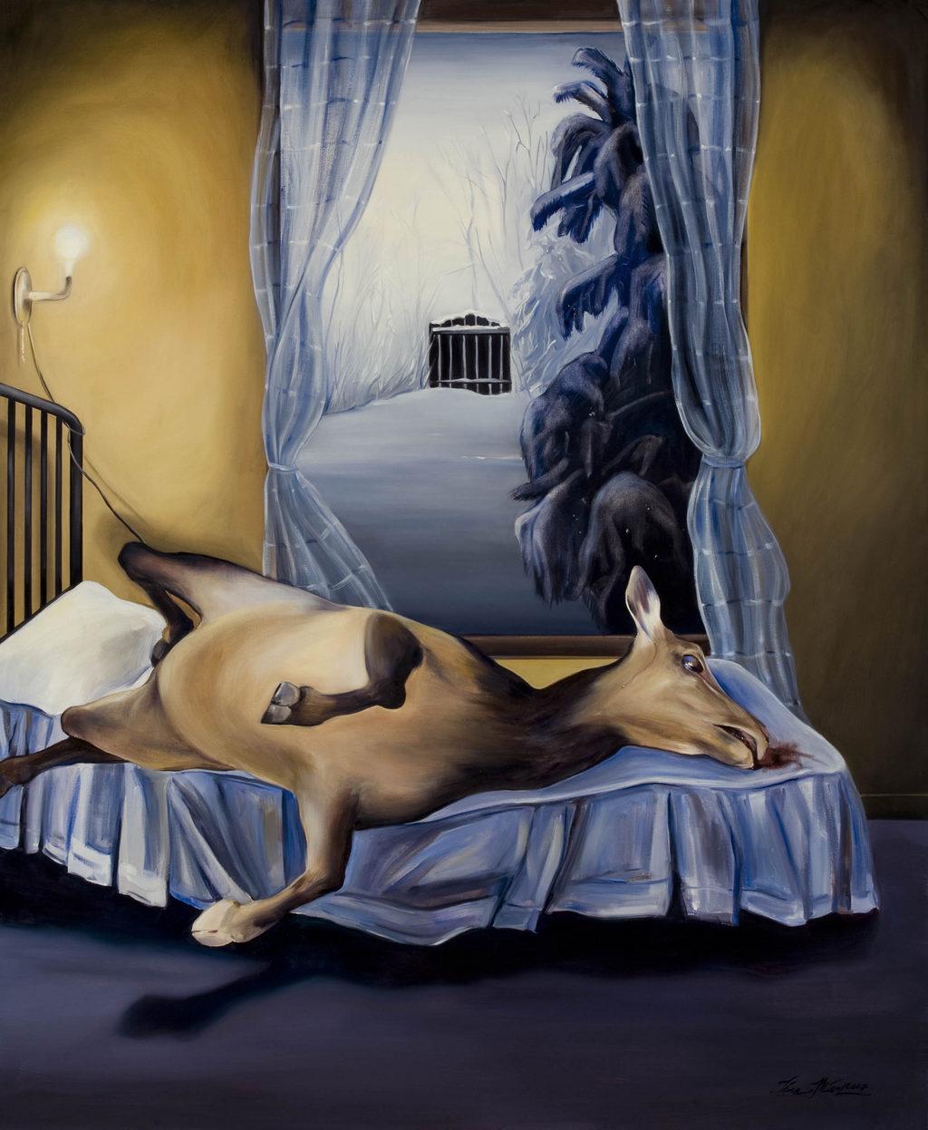 elk art tina mion painting