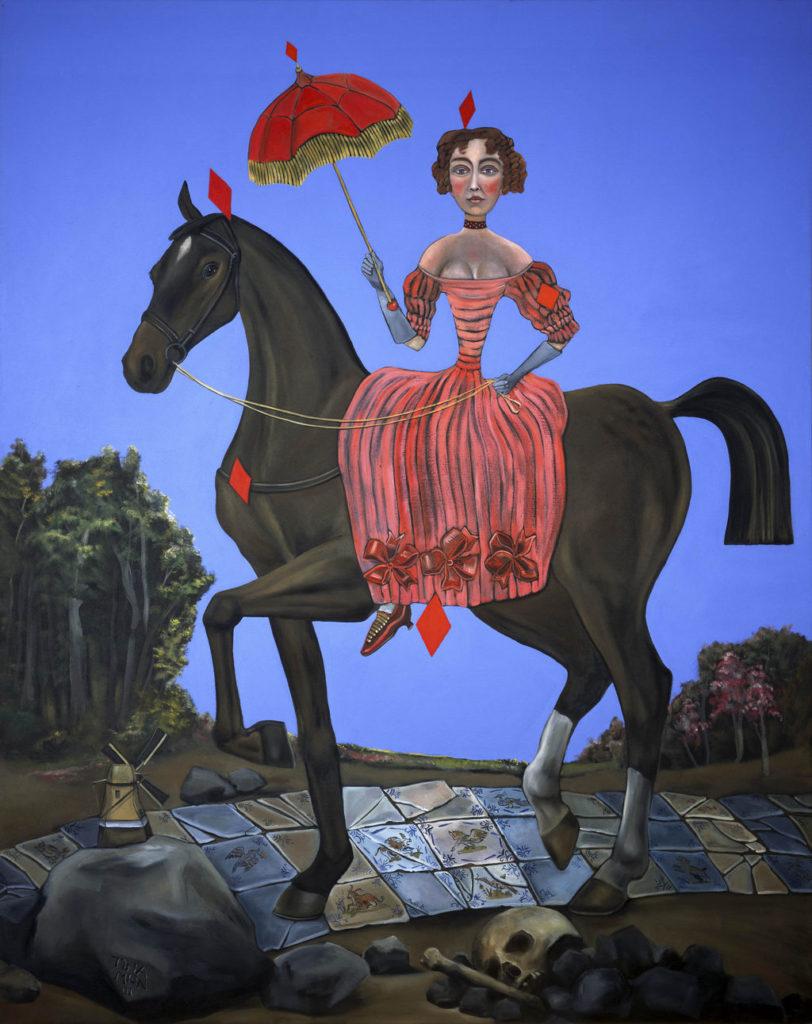 Hannah Hoes Van Buren art tina Mion painting first ladies