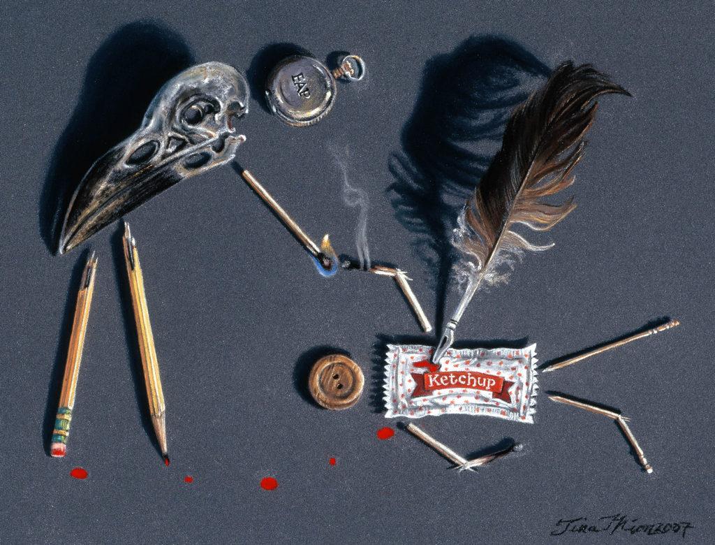 Edgar Allen Poe Spark Tina Mion art objects painting