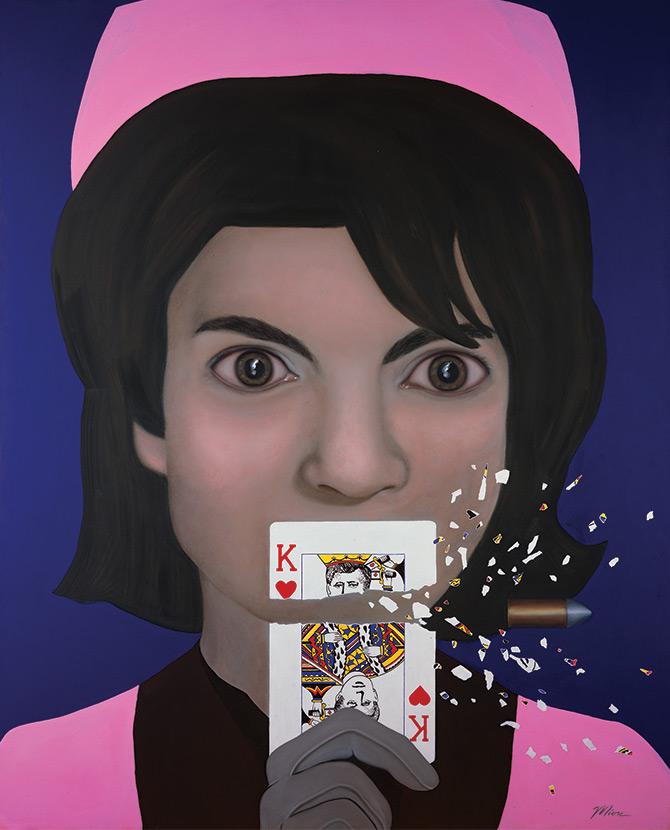 Jacqueline Kennedy art Tina Mion painting jackie-o Jackie Onasis
